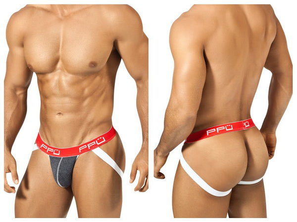 PPU 1308 Jockstrap Color Gray-Red