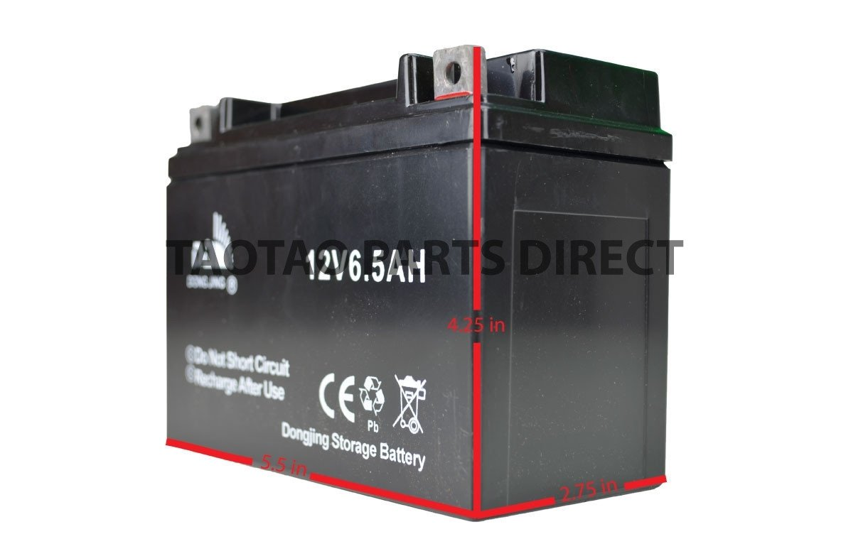 12v 6.5ah Battery - TaoTao Parts Direct