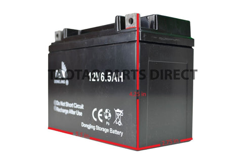 12v 6.5ah Moped Battery