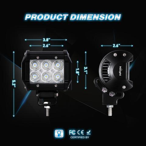 "New weather Proof 4"" Universal LED Spot Light - TaoTaoPartsDirect.com"