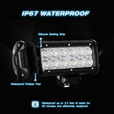 "Two 6.5"" Ultra Bright LED Fog Lights For Power Sports"