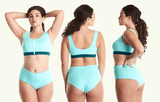 D&B Swimcrop Mint and Teal