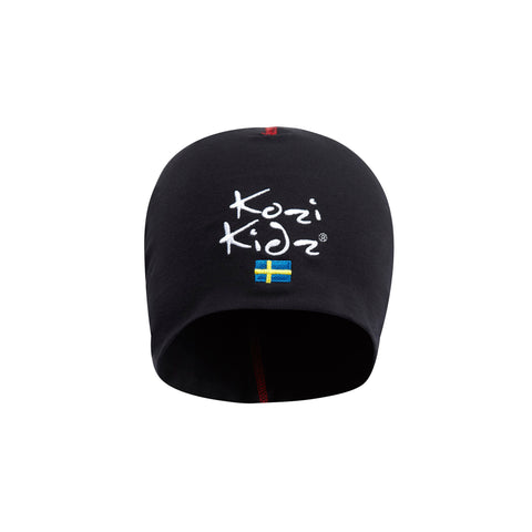 Kozi Kids Black Beanie Hat (ages 1 - 8 yrs)