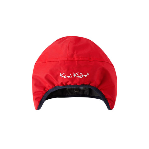 Early Years Rain Hat Fleece-lined (red for ages 18-24 months)