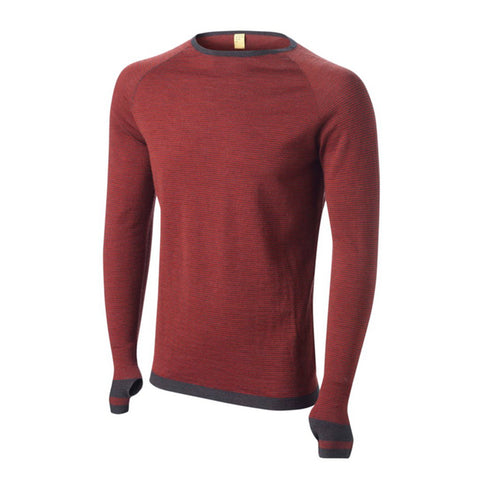 Merino Base Layer Leithen Top - Charcoal/Russet