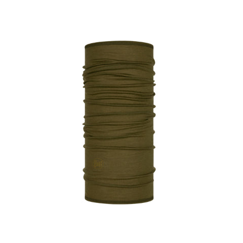 LIghtweight Merino Wool Buff Solid Bark