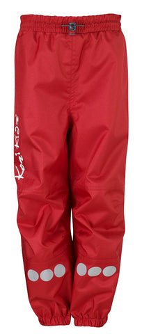Oxford Wind and Waterproof Over Trousers (ages 4-5yrs) - Red