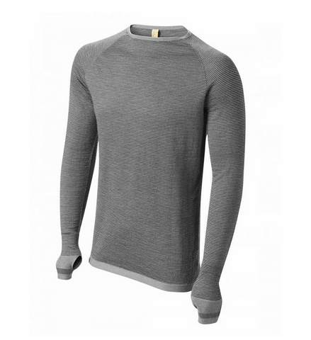 Merino Base Layer Leithen Top -Slate Grey/Charcoal