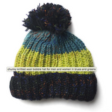 Chunky Fair-trade Woollen Bobble Hat