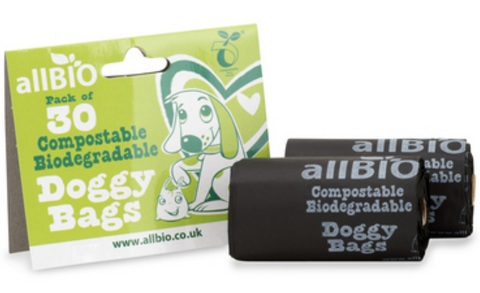 Compostable, fully biodegradable dog poo bags