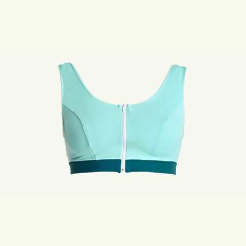 Bikini Swimcrop Top Mint and Teal - Size 12, C-E Cup