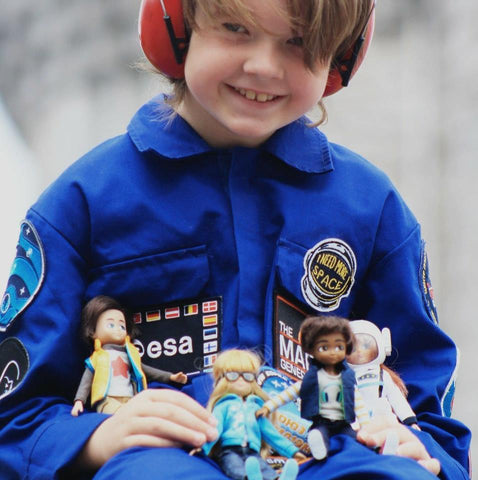 hayden with loyal companion boy doll and other dolls