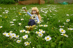 Lottie Doll enjoy in the flower garden