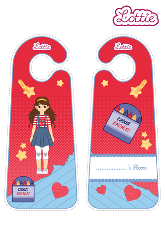 Be Kind Lottie Door Hangers