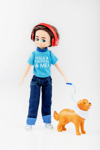 Loyal companion boy Doll with cookie the dog