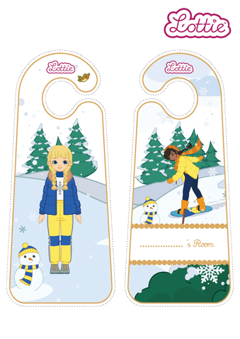 Snow Day Lottie Door Hangers