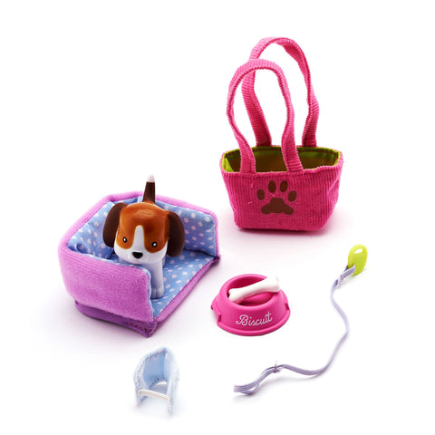 Biscuit the Beagle Dog Lottie doll accessory set.