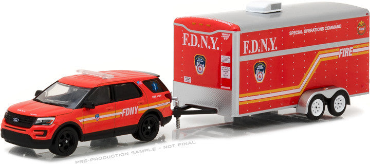2016 Ford Explorer Official Fire Department City of New York (FDNY) with FDNY Special Operations Command Trailer