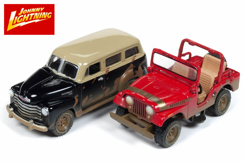 Jeep CJ-5 / 1950 Chevy Suburban
