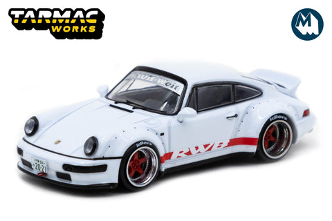 RWB 964 White with Red stripe - Tokyo Auto Salon 2021 Special Edition