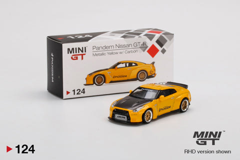 #124 - Pandem Nissan GT-R (R35) Duck Tail Metallic Yellow wwith Carbon