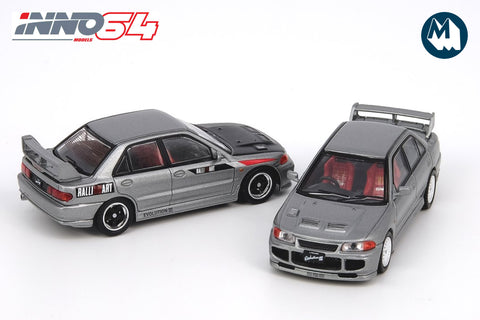 Mitsubishi Lancer Evolution III - Grey (with extra wheels and decals)