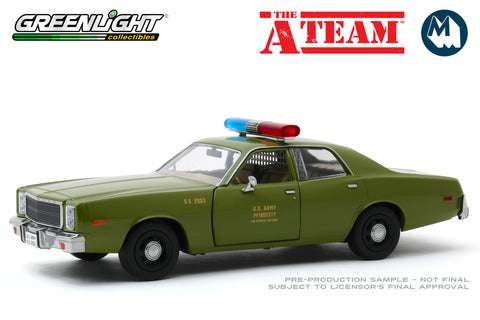 1:24 - The A-Team / 1977 Plymouth Fury U.S. Army Police
