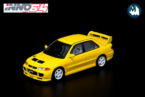Mitsubishi Lancer Evolution III - Yellow with extra wheels and alternative bonnet decal