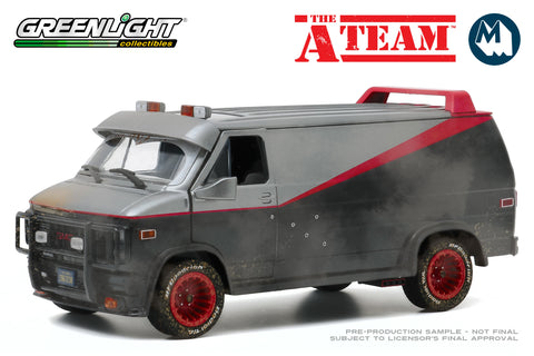 1:24 - The A-Team / 1983 GMC Vandura (Weathered version with bullet holes)