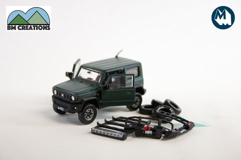 Suzuki Jimny (JB74) - Matte Green with Accessories Pack