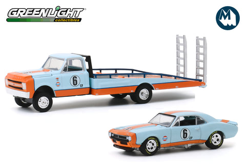 1967 Chevrolet C-30 Ramp Truck Gulf Oil with 1967 Chevrolet Camaro Gulf Oil #6