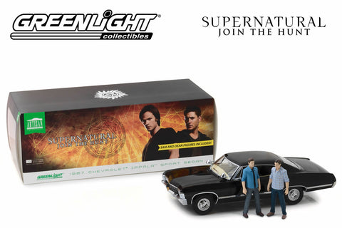 1:18 Supernatural / 1967 Chevrolet Impala Sport Sedan with Sam and Dean Figures