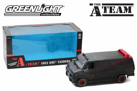 1:18 The A-Team / 1983 GMC Vandura (Weathered Version with Bullet Holes)