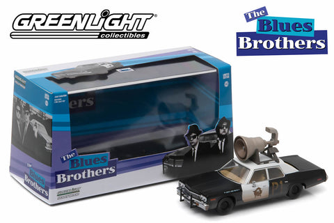 "1:43 - Blues Brothers / Dodge Monaco ""Bluesmobile"" with Horn on Roof"