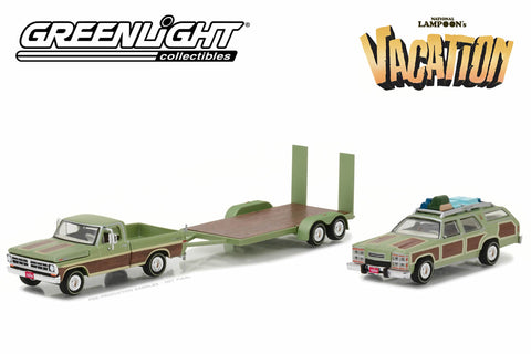 "National Lampoon's Vacation (1983) - 1972 Ford F-100 / 1979 Family Truckster ""Wagon Queen"" / Flatbed Trailer"