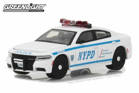 2017 Dodge Charger New York City Police Dept (NYPD) with NYPD Squad Number Decal Sheet