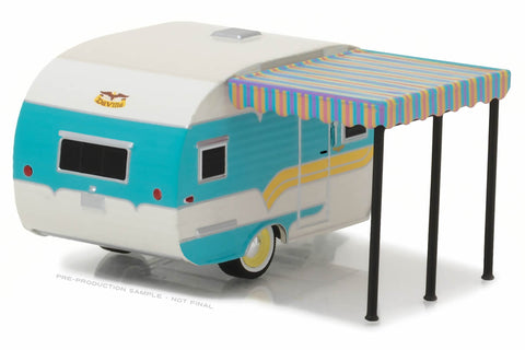 1958 Catolac DeVille Travel Trailer (White and Teal)