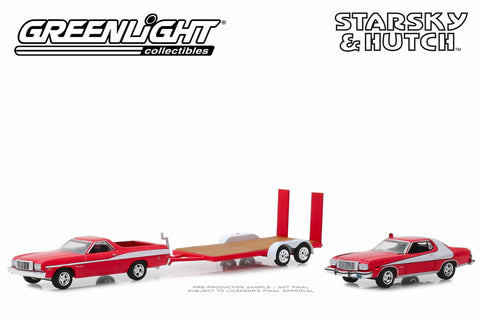 Starsky and Hutch - 1976 Ford Ranchero with 1976 Ford Gran Torino on Flatbed Trailer