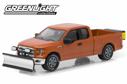 2015 Ford F-150 with Snow Plow and Salt Spreader