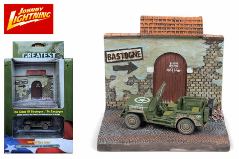 The Bastogne resin display with WWII Willys MB Jeep
