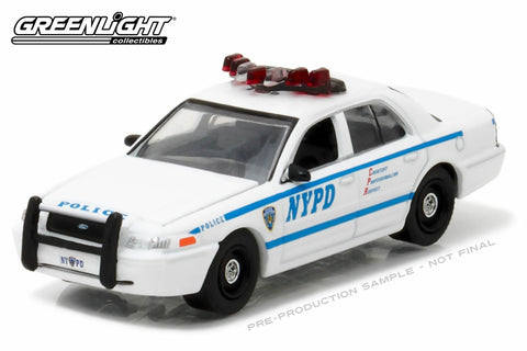 2011 Ford Crown Victoria Police New York City Police Dept (NYPD) with NYPD Squad Number Decal Sheet