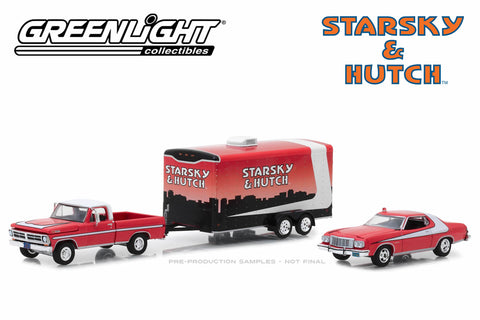 Starsky and Hutch - 1972 Ford F-100 / 1976 Ford Gran Torino / Enclosed Car Hauler