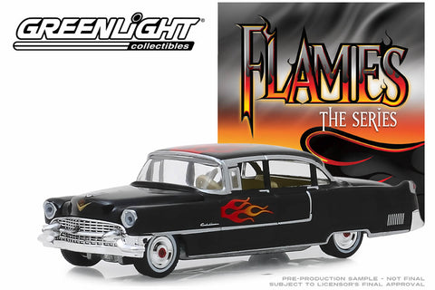 1955 Cadillac Fleetwood Series 60 Special - Black with Flames