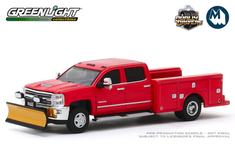 2018 Chevrolet Silverado 3500 Dually Service Bed with Snow Plow