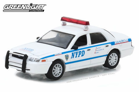 2011 Ford Crown Victoria Police New York City Police Dept (NYPD) Auxiliary with NYPD Squad Number Decal Sheet