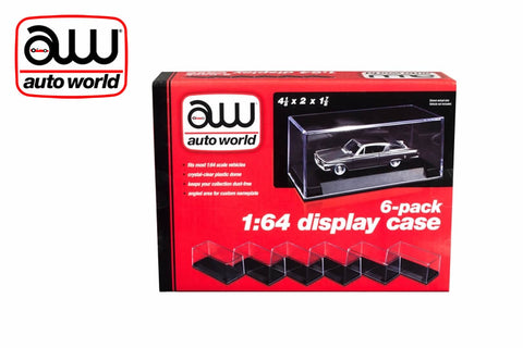 1:64 Auto World Display Cases (6 pack)