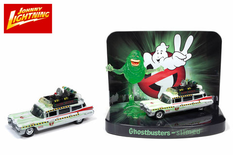 Ecto 1A 1959 Cadillac Diorama (Slimed Version) with Slimer Figure / Ghostbusters