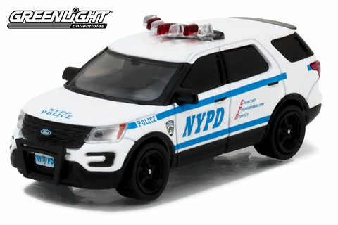 2016 Ford Interceptor Utility New York City Police Dept (NYPD) with NYPD Squad Number Decal Sheet