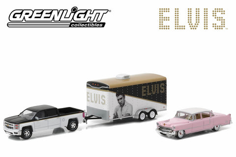 "Elvis Presley (1935-77) 2015 Chevy Silverado with 1955 Cadillac Fleetwood Series 60 ""Pink Cadillac"" in Enclosed Car Hauler"