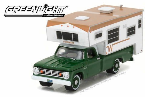 1967 Dodge D-100 with Winnebago Slide-In Camper